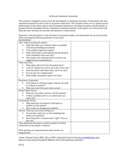 60 Second Situational Essment Form This Exercise Is Designed To Ist You In The Development Of