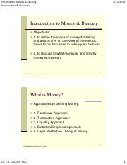 Introduction to Importance of Money and Banking