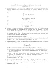 Homework B on Differential Equations