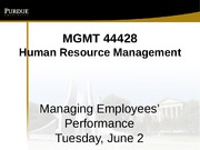 Class 10 Managing Employees' Performance