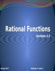 Rational Functions Section 3.6