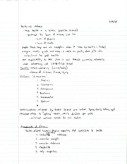 KIN 199 Health and Wellness Notes
