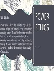 Power Ethics
