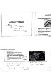 Differentiation of Magma Open Systems Lecture 6