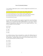Unknown Exam 2011 Solutions