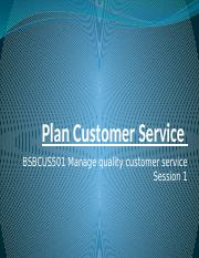 Presentation-1 - Manage quality customer service - BSBCUS501.pptx