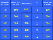 ARH Jeopardy Midterm Review