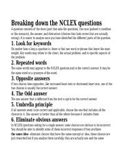 Breaking down the NCLEX questions.docx
