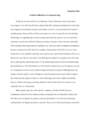 English Research Paper Technical Difficulites in Communicating