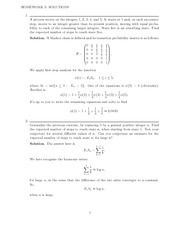 Homework 5 Solution on Stochastic Processes