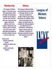 League of Women Voters Brochure (Abbie B. and Kaleigh W.).docx