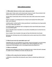 Water pollution questions