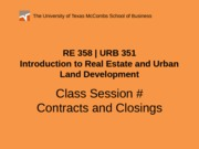 RE 358 URB 351 Powerpoint 0205#2-2