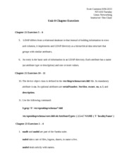 Unit 8 Discussion and Chapter Exercises