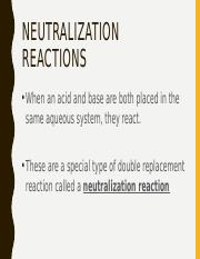 Neutralization, Indicators, and Titrations Revisited