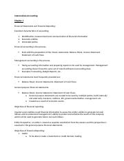 Intermediate Acct. Ch 1 Outline