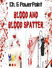 6_ Blood and Blood Spatter PPT _ updated version.pptx