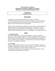 Oral interview Study Guide