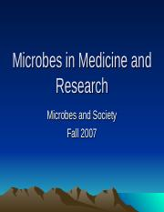 MicrobesinMedicineandResearch