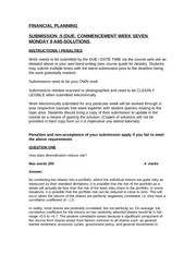 ACCT1018TUTORIAL SUBMISSION QUESTION 5 DUE COMMENCEMENT WEEK7SOLUTIONS