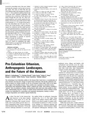 Heckenberger  et al. (2008) Pre-Columbian Uranism Anthropogenic Landscapes and the Future of the Ama