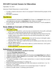 ED 629 Current Issues in Education.docx
