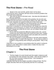 The First Stone Chapter 1-4 Homework Questions
