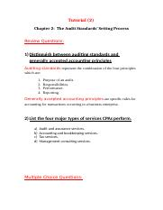 Tutorial (2) chapter 2