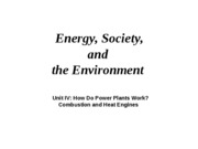 Power Plants, Combustion, Heat Engines