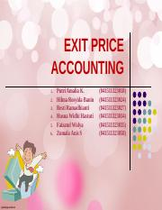 EXIT PRICE ACCOUNTING