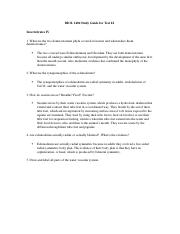 Test 4 study guide
