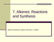 7. Alkenes_Reactions and Synthesis