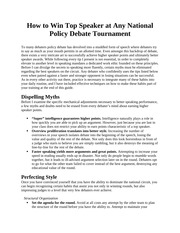How to Win Top Speaker at Any Policy Debate Tournament