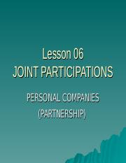 L-6-Joint Participation (P-II-Ch-I-3).ppt