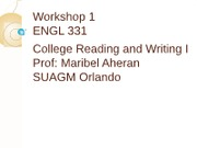 PPP workshop 1 ENGL 115