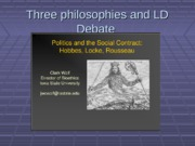 Social Contract Theory and LD Debate - beginners simplified  class cut 2012