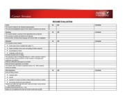 CARD 415 Career Services  Resume Checklist