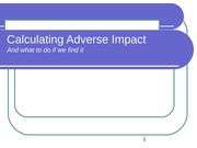 Adverse Impact Calc & What to do if found