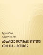 ADVANCED DATABASE SYSTEMS -2
