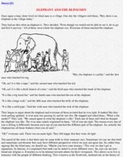 ELEPHANT AND THE BLIND MEN