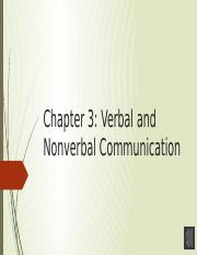 Chapter 3 Verbal and Nonverbal Communication with audio