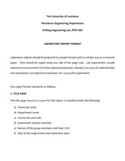 LABORATORY REPORTS FORMAT