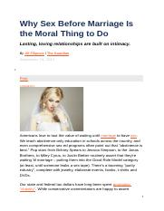 Why Sex Before Marriage Is the Moral Thing to Do.docx