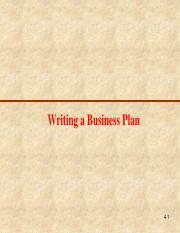 4 writing business plan writing a business plan 4 1 chapter