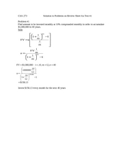 Exam 1 Review Problem Solutions