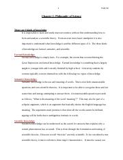 Chapter 2 double spaced Philosophy of Science