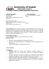 COST AND MANAGEMENT ACCOUNTNG MGT-319.docx