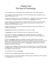 Chapter Four - The State of Technology