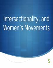 Lecture 4 Women's Movements and Theory Post