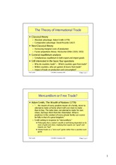 Theory of international trade Lecture